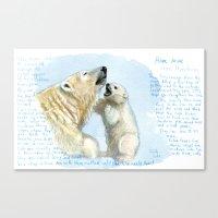 Polar bears A0086 Canvas Print