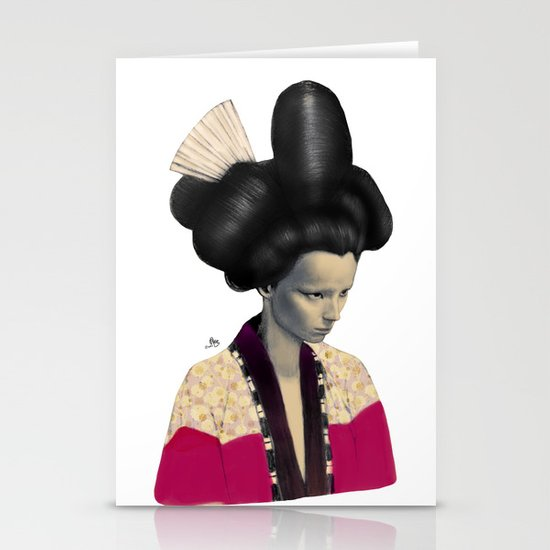 Geisha Stationery Card