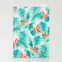Tropical Paradise Pale Peach Stationery Cards