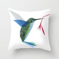 Henrietta Hummingbird Throw Pillow