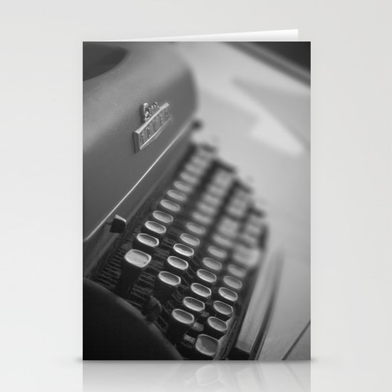 Black and White Typewriter  Stationery Card