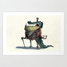 Fancy Crocodile Art Print