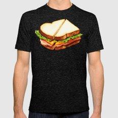Ham Sandwich Pattern Mens Fitted Tee Tri-Black SMALL