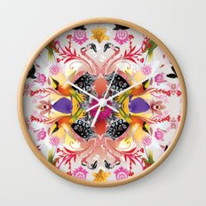 Kaleidoscope Flamingos Wall Clock