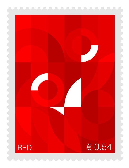 Red Stamp Art Print