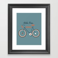 Ride Free Framed Art Print