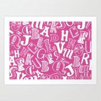 A-Z Art Print