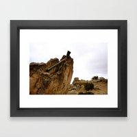 Trail Work Ghost Framed Art Print
