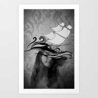 If I Were A Ship Art Print