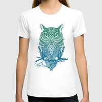 owl T-shirts featuring Warrior Owl by Rachel Caldwell