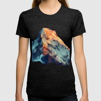 Mountain Low Poly Womens Fitted Tee Tri-Black SMALL