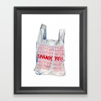 Spank You Very Much Framed Art Print