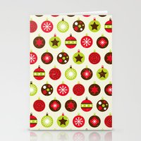Christmas Baubles Stationery Cards