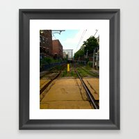 Train Tracks Framed Art Print