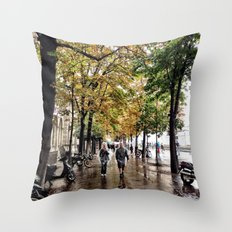 Stroll with me Throw Pillow