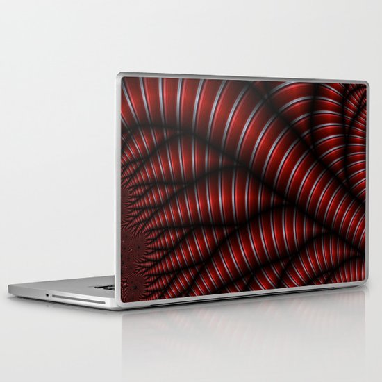 red and silver Laptop & iPad Skin