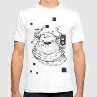 Little Lovely Reindeer Mens Fitted Tee White SMALL