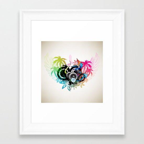 Tropical Sounds Framed Art Print