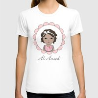 Al Anood Womens Fitted Tee White SMALL