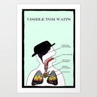 VISIBLE TOM WAITS Art Print