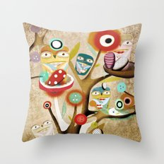 Owls Owls Throw Pillow