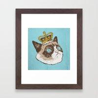Grumpy King Framed Art Print