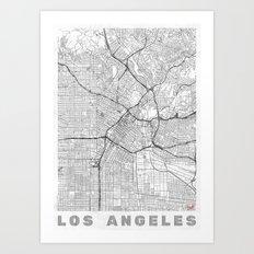 Los Angeles Map Line Art Print