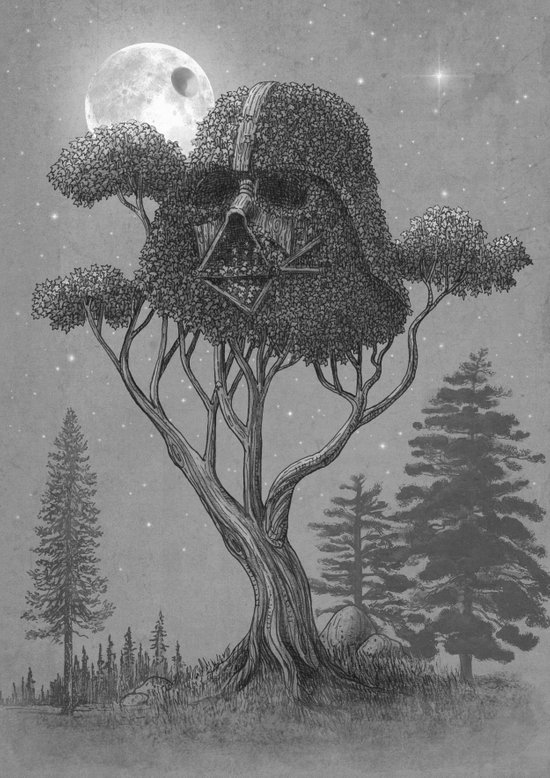 Dark Side of The Forest  Art Print