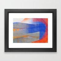 Blue With Orange Framed Art Print