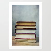 stack of books Art Print