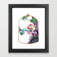 Sleeping Beauty, Cage Framed Art Print