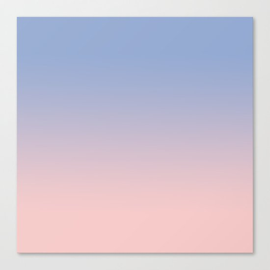 pantone rose quartz and serenity ombre canvas print by tamsin lucie society6. Black Bedroom Furniture Sets. Home Design Ideas