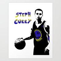 Stephen Curry Golden Sta… Art Print