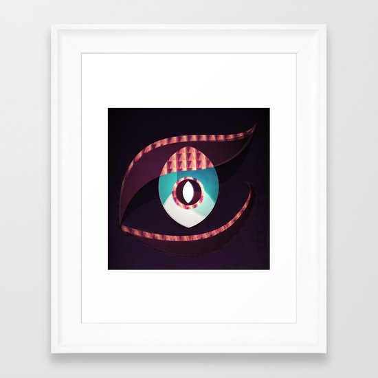 Dragons Eye Framed Art Print