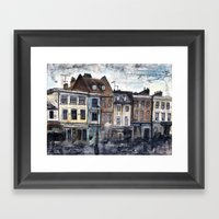 Rainy Greenwich Framed Art Print
