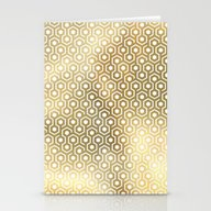 Stationery Cards featuring Gold Geometry by Marta Olga Klara
