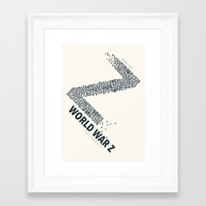 World War Z - minimal poster Framed Art Print