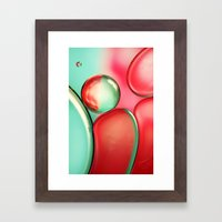 Oil Drops In Blush & Blu… Framed Art Print