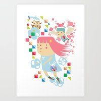 Polypop FlyGirl Art Print