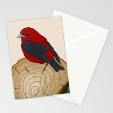 Bird on a Log Stationery Cards