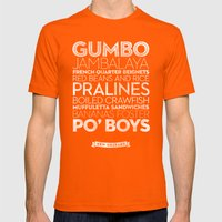 New Orleans — Deliciou… Mens Fitted Tee Orange SMALL