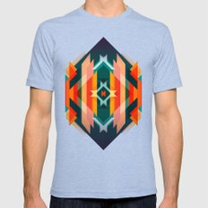 Broken Diamond - Incalescence Mens Fitted Tee Tri-Blue SMALL