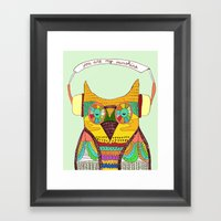 The Owl Rustic Song Framed Art Print
