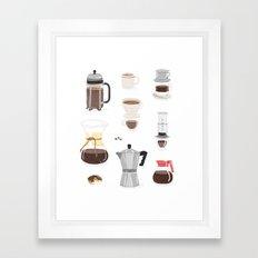 Coffee Coffee Coffee Framed Art Print