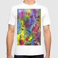Spring Time Painting  Mens Fitted Tee White SMALL