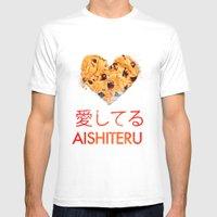 I Love You /Aishiteru  Mens Fitted Tee White SMALL