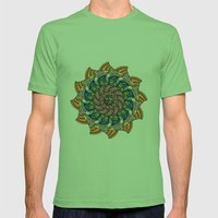 Egyptian Pterodactyl Dial Mens Fitted Tee Grass SMALL