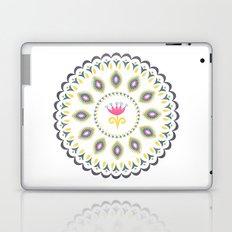 Suzani inspired floral blue 4 Laptop & iPad Skin