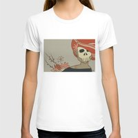 Death Womens Fitted Tee White SMALL