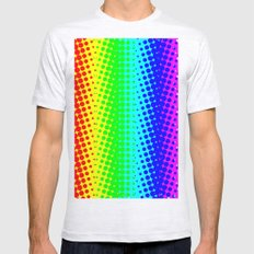 RAINBOW COLOR DOT Mens Fitted Tee Ash Grey SMALL